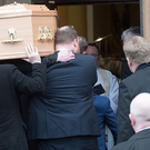 The funeral of Alexandra Johnston in Derry on Sunday. Picture Martin McKeown. Inpresspics.com. 21.01.18