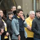 Mourners at the funeral of Alexandra Johnston. PIcture Martin McKeown. Inpresspics.com. 21.01.18