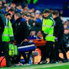 Serious injury: James McCarthy suffered a double leg break