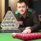 Pacemaker Press 22/1/2018 2018 Masters snooker champion Mark Allen at the Trinity Snooker Club, Belfast, for a demonstration match after he won the snooker Masters title. Picture Pacemaker