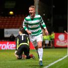 Celtic's Leigh Griffiths celebrates his winner
