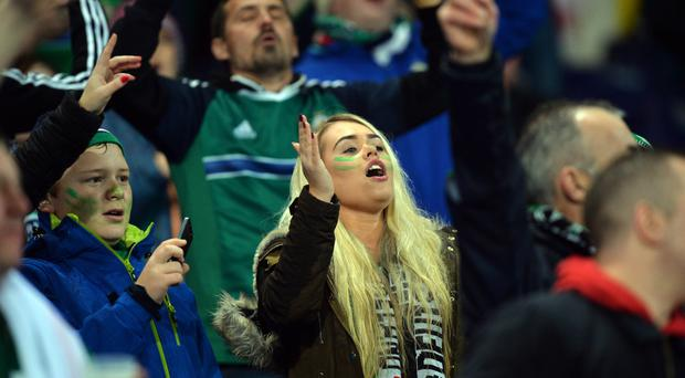The Northern Ireland supporters will be watching this morning's UEFA Nations League draw with interest. Photo Colm Lenaghan/Pacemaker Press