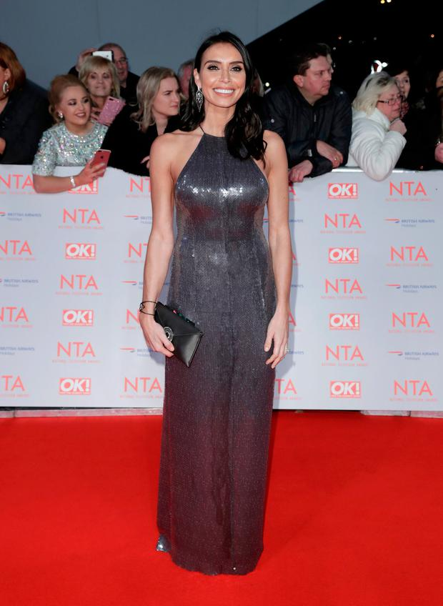 Christine Lampard attends the National Television Awards 2018 (Photo by John Phillips/Getty Images)