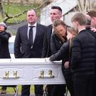 PACEMAKER BELFAST 24/01/2018 The funeral has taken place of Shannon McQuillan who died suddenly as the result of an accident. Beloved daughter of Paul and Collette and loving sister of Paul, Charlene and Kelly. The Requiem Mass was in St. JosephÕs Church, Dunloy, Northern Ireland. Picture By: Arthur Allison/Pacemaker Press