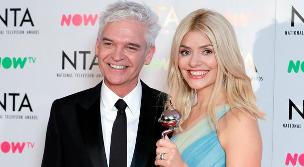 Phillip Schofield and Holly Willoughby with the award for Best Daytime for