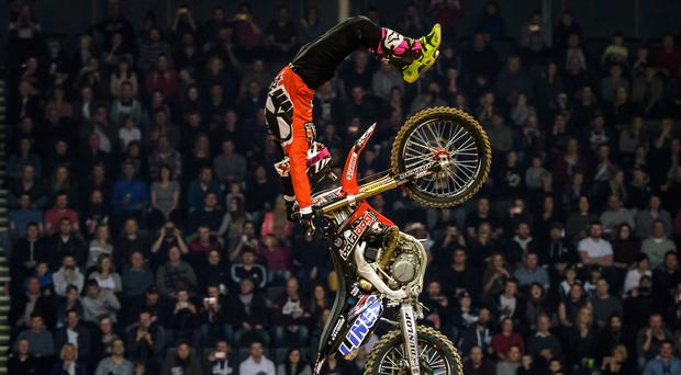 High-flyers: The Motocross tour revs into Belfast's SSE Arena tomorrow night