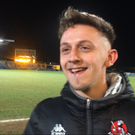 Matthew Snoddy was all smiles after his side's County Antrim Shield success.