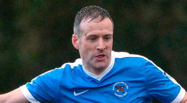 Doubled up: Ballinamallard's Ryan Curran struck twice