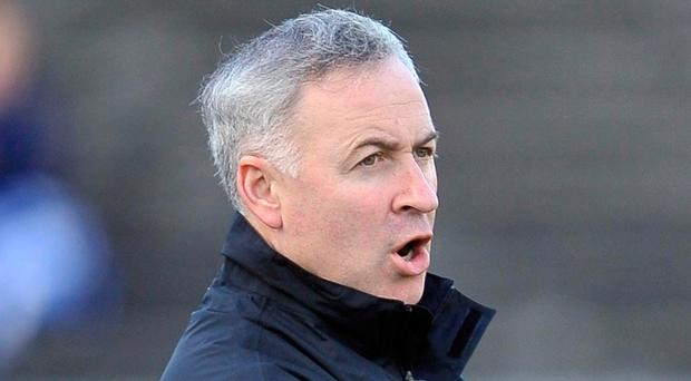 National pride: Antrim manager Lenny Harbinson