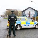 Police at the scene in the Fraser Avenue area of east Belfast where there was a report of an explosion on Friday evening. Picture by Jonathan Porter/PressEye