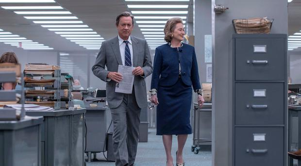 Star quality: Meryl Streep and Tom Hanks in The Post
