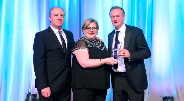 Accolade: 2016 Team of the Year Award went to Michael O'Neill's Northern Ireland football team