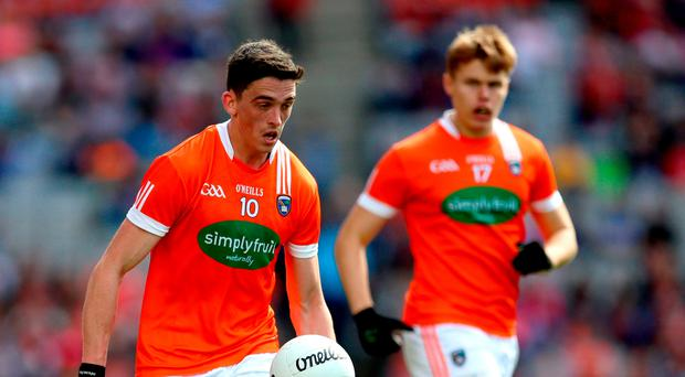 Leading light: Armagh captain Rory Grugan led by splendid example against Sligo yesterday.