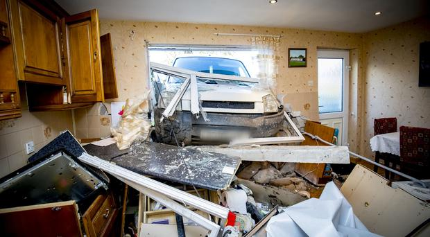 Waringstown: Woman injured as van crashes into kitchen