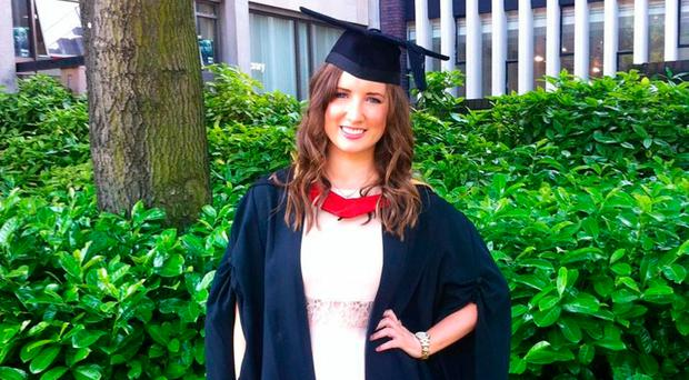 Success story: Eleni Crockard has graduated with a masters in psychology of education