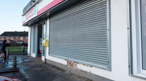 The supermarket in Londonderry which was raided at the weekend