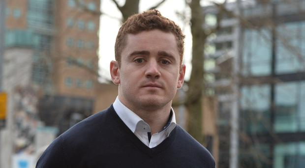 Ulster and Ireland rugby player Paddy Jackson arrives at Laganside Magistrates court. January 30, 2018