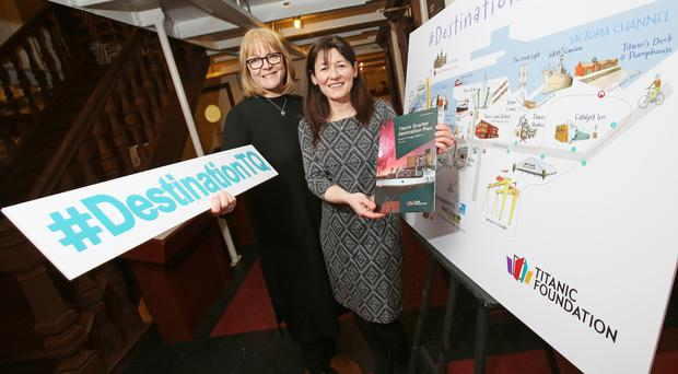 Nicky Dunn (left), chair of Titanic Foundation, and Kerrie Sweeney, the foundation's chief executive