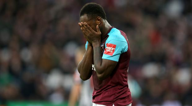 Michail Antonio was left out by David Moyes