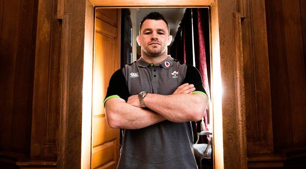 Ready to rumble: Cian Healy at the Ireland training base at Carton House yesterday