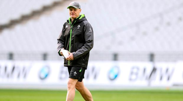 Walk this way: Joe Schmidt is hoping to mastermind another Ireland victory against France in Paris