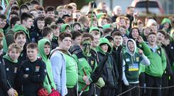 Fans pictured during today's match between Sullivan and Down High in Holywood. Picture By: Arthur Allison/Pacemaker.