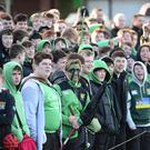 Danske Bank Schools Cup Round 4 Sullivan V Down High School in Holywood. Fans pictured during todays match in Holywood. Picture By: Arthur Allison/Pacemaker.