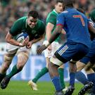 Big impact: James Ryan has been backed to go on and win over 100 caps for Ireland