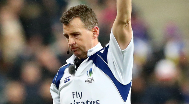 Under fire: Nigel Owens called for a head injury on Saturday