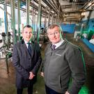 Mark Canning (left) of Danske Bank and Gabriel D'Arcy