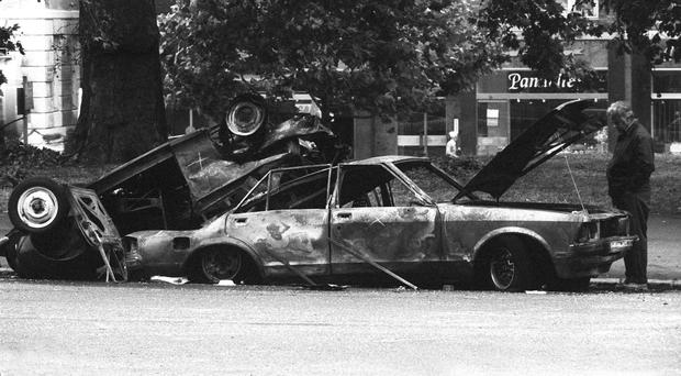 The aftermath of the Hyde Park bomb