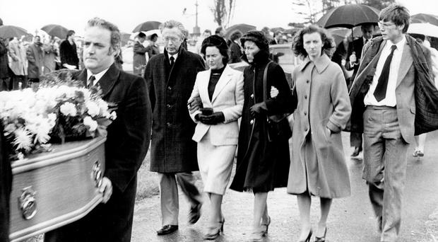 Edward and Laura Robinson at the funeral of their daughter Deborah, raped and strangled by Richard O'Hara