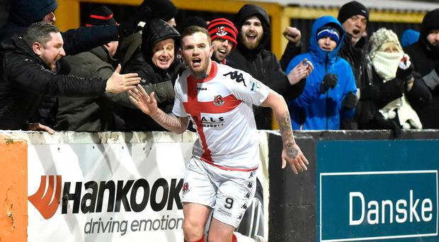 Big impact: Darren Murray celebrates with fans after hitting his second on his Crues debut