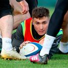 In the mix: Jordan Larmour could be given the nod this weekend after rumours that he is flourishing in training