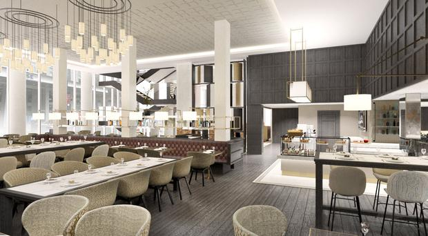 Inside the new Grand Central Hotel in Belfast