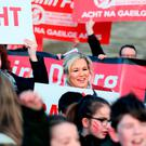 Sinn Fein's Michelle O'Neill joins Irish Language Act campaigners at Stormont last week