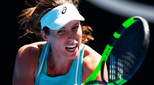 No nonsense: Johanna Konta enjoyed a comfortable win