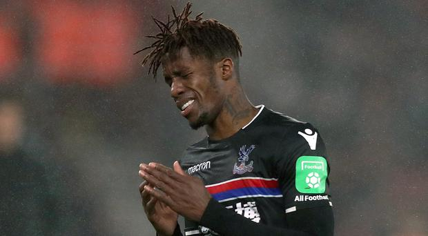 Wilfried Zaha faces a spell on the sidelines