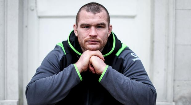 Looking ahead: Jack McGrath relaxes at Ireland's training base at Carton House yesterday ahead of tomorrow's Italy clash