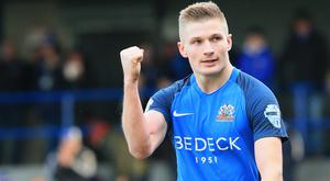 Feeling confident: Andrew Mitchell is sure fearless Glenavon won't be knocked off track