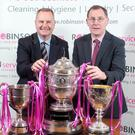 Exciting deal: David Robinson of Robinson Services and NCU chairman Alan Waite
