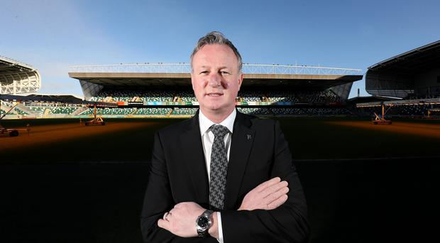 Michael O'Neill was at the National Football Stadium at Windsor Park today to sign a four-year contract extension which will see him continue as Northern Ireland senior men's international manager until 2024.