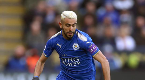 Pep Guardiola is happy to face Leicester's Riyad Mahrez at his best