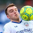 No fear: Coleraine's English midfielder Martin Smith