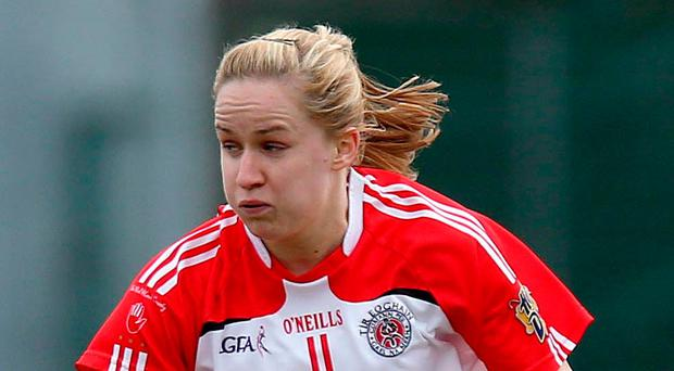 On song: Gemma Begley is in hot form for Tyrone ladies
