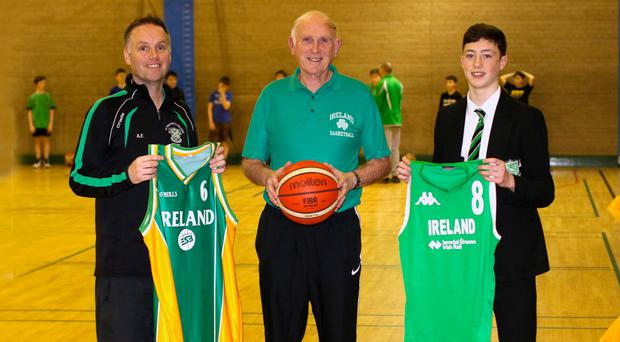 Courting success: Adrian (left) Danny and CJ Fulton who have all represented Ireland