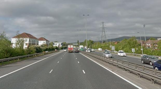 The M1 near to Stockmans Lane in Belfast / Credit: Google Maps