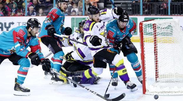 Belfast Giants' Jonathan Ferland during Sunday afternoon's Elite Ice Hockey League game at the SSE Arena.