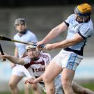 AIB GAA All-Ireland Senior Hurling Club Championship Semi-Final, Parnell Park, Dublin 10/2/2018 Na Piarsaigh vs Slaughtneil Na Piarsaigh's Niall Buckley is blocked by Conor McAllister of Slaughtneil Mandatory Credit ©INPHO/Oisin Keniry