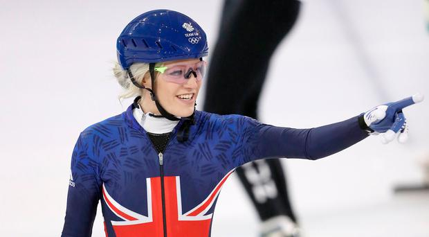 Medal pointer: Scotland's Elise Christie plans to better boyfriend Shaolin Liu's result on the ice